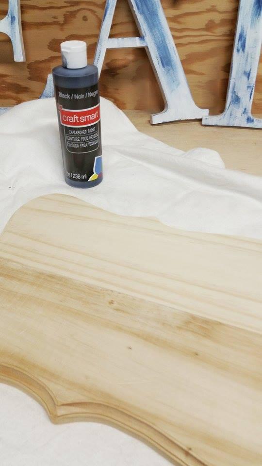 wood, chalkboard