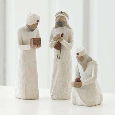 DEMDACO-Willow-Tree-Nativity-3-Piece-Wisemen-26027